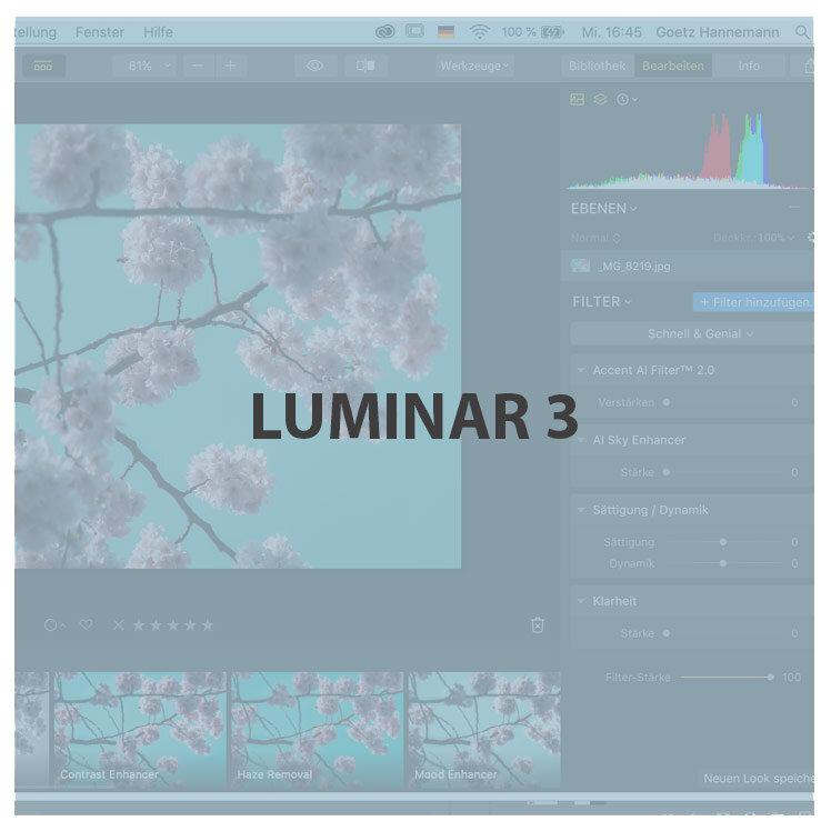 Sichere dir jetzt schnell deine kostenlose Lizenz von Luminar 3